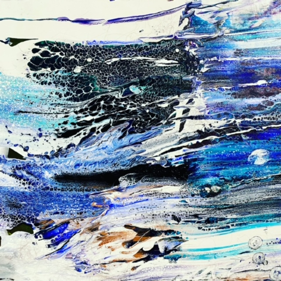 Abstract Art - West Surrey Artists member Ingrid Skogland - Angels in the Water