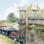 Addlestone Surrey – Coxes Lock – Watercolour Painting – David Drury