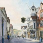 Guildford High Street – Watercolour Painting by Byfleet Art Group Artist David Drury