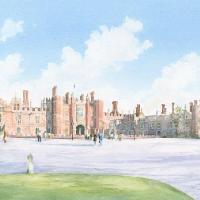 Hampton Court Palace – North Surrey Art Society member – Watercolour Artist David Drury