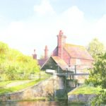 Send – Triggs Lock – Woking Society of Art – Artist David Drury