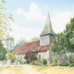 Byfleet – St. Mary's Church – Surrey Scenes Art Gallery – David Drury