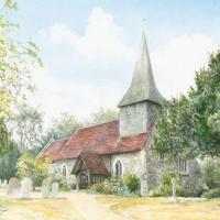 Byfleet – St. Mary's Church – Surrey Scenes Art Gallery – David Drury