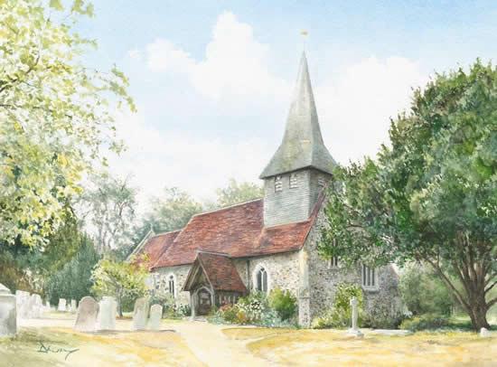 St Marys Church Byfleet - Surrey Scenes Gallery - David Drury