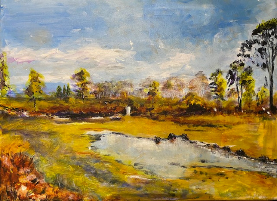 Surrey's Last Wilderness - Painting by Normandy Artists member Ingrid Skogland