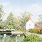 Triggs Lock House Send Surrey – Woking Arts Society Watercolour Artist David Drury