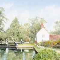 Triggs Lock House Send Surrey – Woking Arts Society Watercolour Artist David Drury