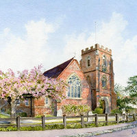 Windlesham Church – North Surrey Watercolour Artist David Drury
