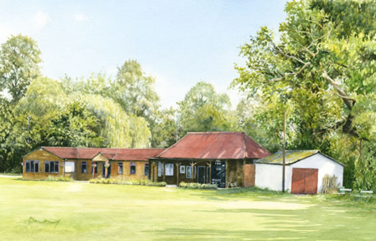 Woking Cricket Club - Byfleet Art Group - David Drury