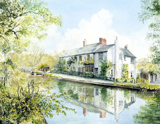 Woodham Lock, Woking - North Surrey Artists member David Drury