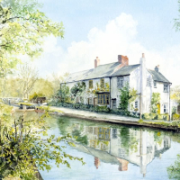 Woodham Lock near Woking – North Surrey Artists member David Drury