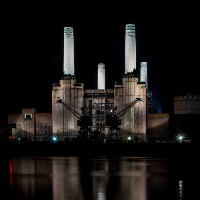 Battersea Power Station before development – Photographic Artist Sue Roche – Associate of the Royal Photographic Society