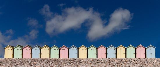 Beach Huts - Devon England - Sue Roche Photography
