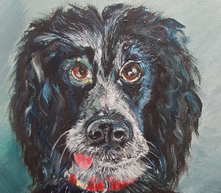 Dog Portrait - Woking Art Society Artist Yana Linch