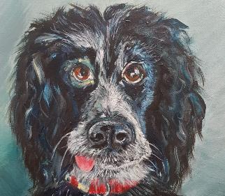 Dog Portrait - Woking Art Society Artist Yana Linch