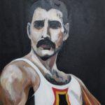 Freddie Mercury of Queen Painting – Woking Art Society member Yana Linch