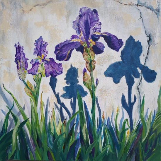 Irises - Floral Art by Guildford Art Society Artist Yana Linch