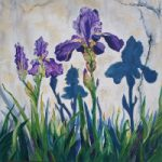 Irises – Floral Art by Guildford Art Society Artist Yana Linch