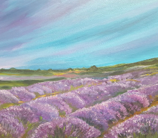 Lavender Fields - Guildford Art Society Artist Yana Linch
