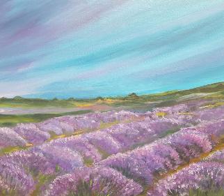 Lavender Fields - Guildford Art Society Artist Yana Linch