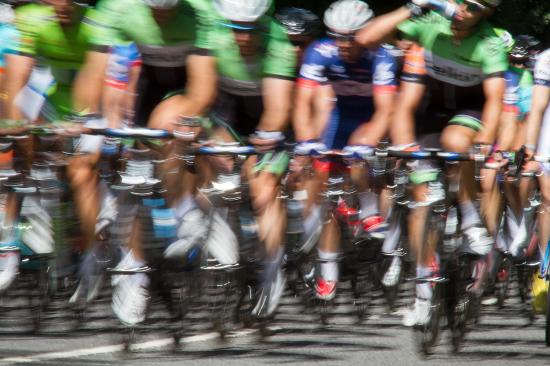 Peloton - Ride London Cyclists - Guildford Surrey Photographer Sue Roche