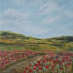 Poppy Fields – Ranmore Hills near Dorking Surrey – Guildford Art Society Artist Yana Linch
