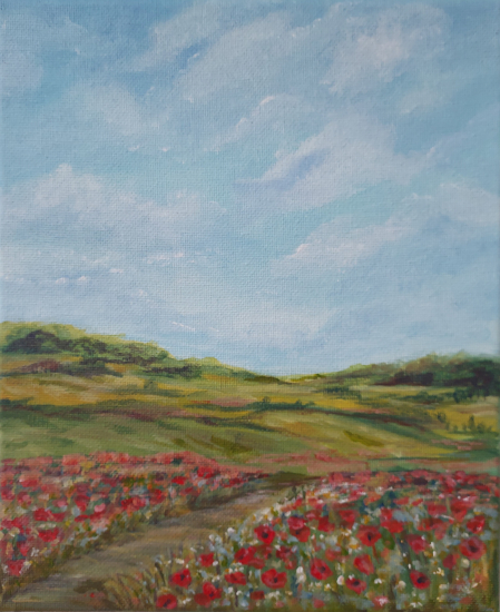 Poppy Fields - Ranmore Hills near Dorking Surrey
