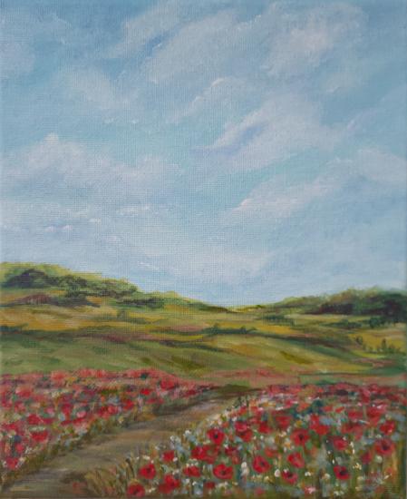 Poppy Fields - Ranmore Hills near Dorking Surrey