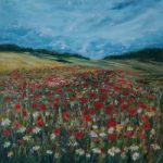 Ranmore Hills near Dorking – Poppy Field – Guildford Art Society Artist Yana Linch from Woking