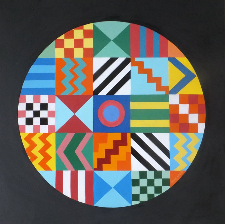 Contemporary Art - After Peter Blake Abstract Painting - Surrey Artist Fred Masters