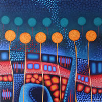 Contemporary Art – Garden – Fred Masters – Abstract Artist – Painting in Acrylic – Surrey Art Gallery