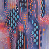Contemporary Art – Hanging Garden – Fred Masters – Abstract Artist – Painting in Acrylic – Surrey Art Gallery