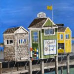 Plymouth Harbour Cape Cod Massachusetts USA – Coastal Oil Painting – Maggie Jukes