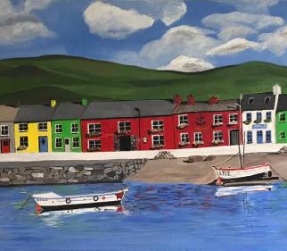 Portmagee County Kerry Ireland - Wild Atlantic Way - Seascape Artist Maggie Jukes