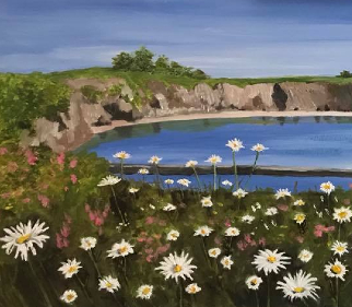 Summer Flowers in Boatstrand County Waterford Ireland - Landscape, Seascape and Floral Artist Maggie Jukes