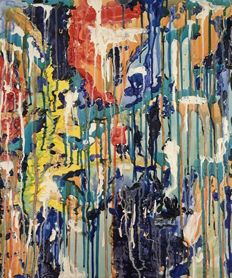 Abstract Art - Byfleet Surrey Artist Charlotte Amison - Commissions Invited