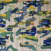 Abstract Art Commission – Byfleet Surrey Artist Charlotte Amison – Water Lily