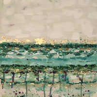 Abstract Art Painting Commission for Bedroom – Byfleet near Woking Surrey Artist Charlotte Amison