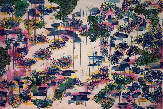 Japanese Feel Art - Byfleet Surrey Artist Charlotte Amison