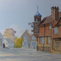 Abinger Hammer with Striking Clock – Surrey Gallery – Pirbright Art Club Member David Harmer