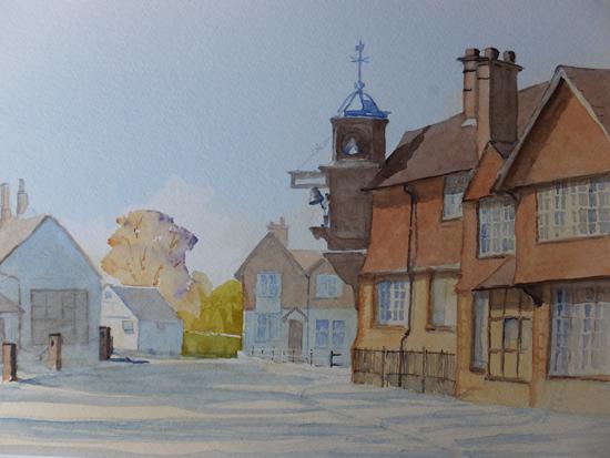 Abinger Hammer with Striking Clock - Surrey Gallery - Pirbright Art Club Member David Harmer