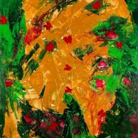Indian Chief – Chieftan – Original Abstract Art – Croatian Acrylic Artist Shanon King