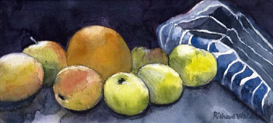 Apples and Apron - Best Professional Still Life Artist of the Year 2020 Richard Waldron