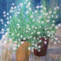 Daisy Daisy – Fine Art Prints – Flowers Painting of Daisies in Pots
