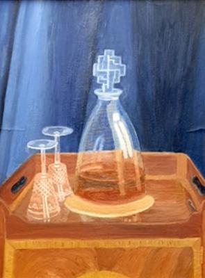 Decanter and Glasses - Aspiring Artist Richard Waldron Aged 8