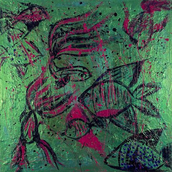 Fish - Contemporary Expressionist Ashtead Surrey Artist Shanon King