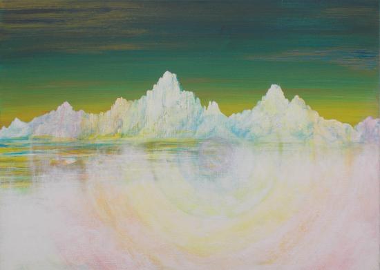 Glacial Spectrum Acrylic on Canvas - Artist Simon Oliver