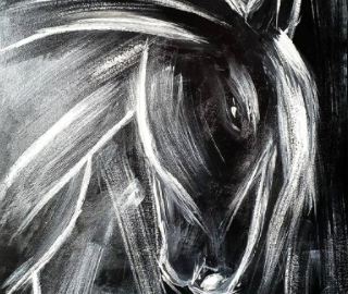 Horse - Equine Art - Now I Can Breathe - Equestrian Painting - Contemporary Croatian Artist Shanon King