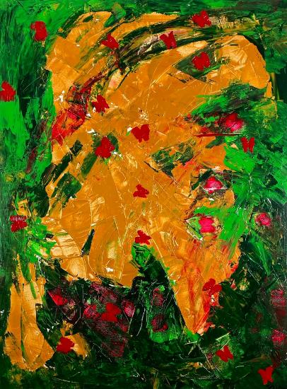 Indian Chief - Chieftan - Original Abstract Art - Croatian Acrylic Artist Shanon King