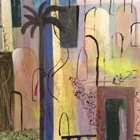 Moroccan Courtyard – Fine Art Prints – Hampton London Artist Jennifer Brown